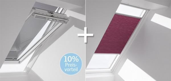 VELUX-Wabenplissee & Markise FOP für Fenstergröße PK10